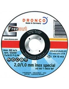 Disco dronco as60t inoxidable 115x2/1x22,2 pack de dronco