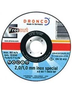Disco dronco as60t inoxidable 115x2/1x22,2 pack de dronco