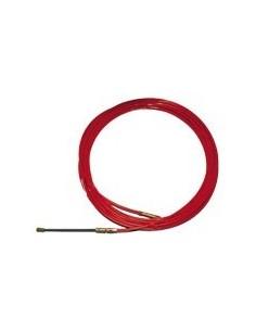 Cinta pasa-hilo acero/nylon 4mm-10m roja de atm