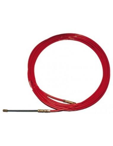 Cinta pasa-hilo acero/nylon 4mm-15m roja de atm