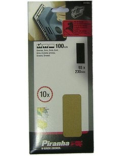 Accesorio x31070xj hoja lija 1/3 92x230 g-150 de black & decker