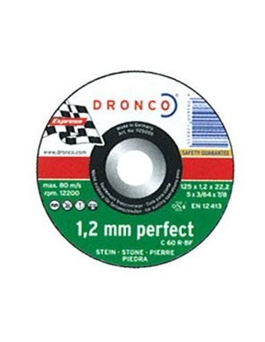 Disco dronco c60r 115x1,2x22,2 corte piedra de dronco caja de