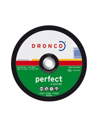 Disco dronco c24r 230x3,0x22,2 corte piedra de dronco caja de