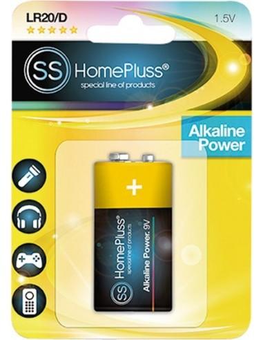 Pila alkalina homepluss 6lr61 9v bl(1) de marca caja de 12