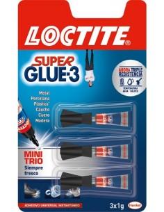 Pegamento super glue 3 trio12 2229418 de loctite caja de 12