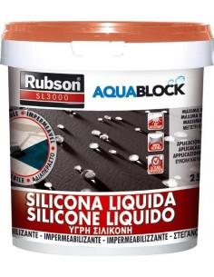 Silicona liquida sl3000 1894877-1kg teja de rubson caja de 4