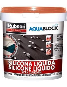 Silicona liquida sl3000 1890693-1kg gris de rubson caja de 4