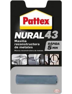 Nural 43 masilla reconstructora de metales rapida de pattex