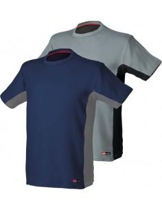 Camiseta stretch 8175 gris/negro t-s de starter