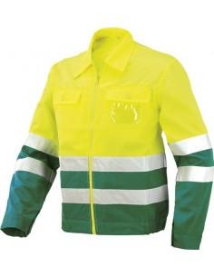 Cazadora alta visibilidad verde/amarillo 8546av t-xl de starter