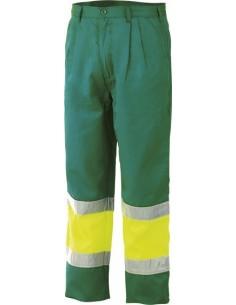 Pantalon alta visibilidad verde/amarillo 8539av t-s de starter