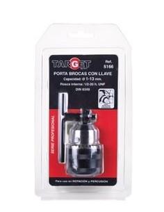 Portabrocas con llave 1/2-20/1-3 pb5166 bl de target