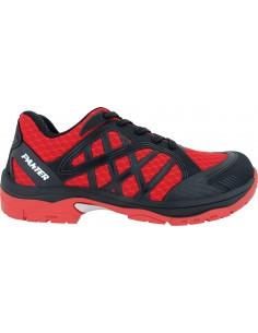 Zapato argos s1p t-44 rojo de panter