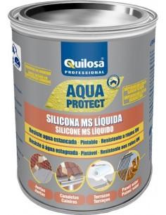 Silicona ms liquida 3061 1kg gris de quilosa caja de 6 unidades