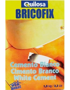 Bricofix cemento 88138-1,5kg. blanco de quilosa caja de 10