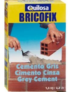 Bricofix cemento 88153-1,5kg gris de quilosa caja de 10 unidades