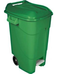 Contenedor verde pedal 426001 120l tapa verde de tayg