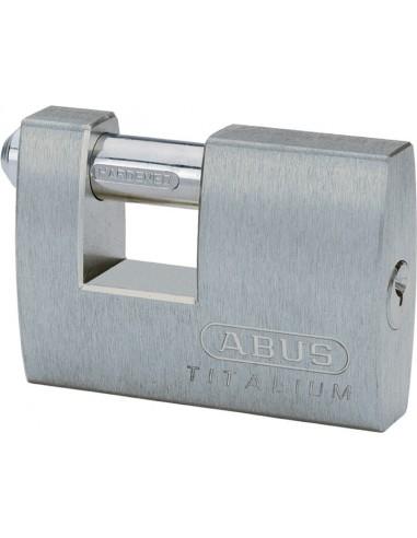 Candado titalium rectangular monoblock 82ti/70 de abus caja de