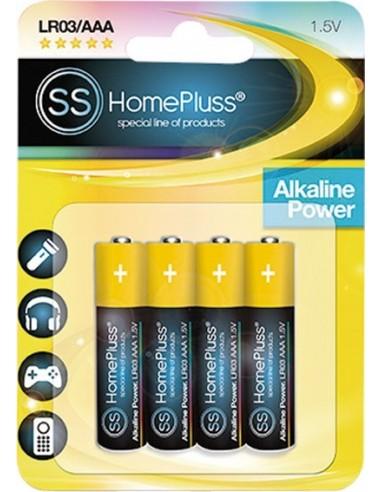 Pila alkalina homepluss lr03(aaa) bl(4) de marca caja de 10