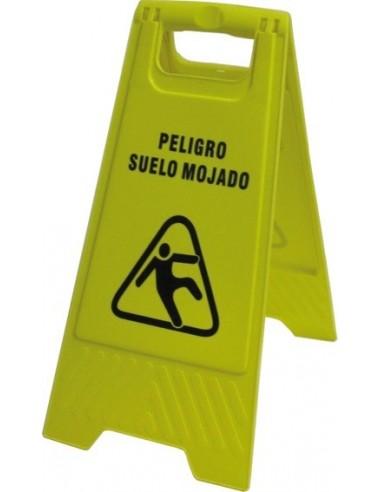 Señal plegable suelo mojado 106 30x63cm de jg señalizacion