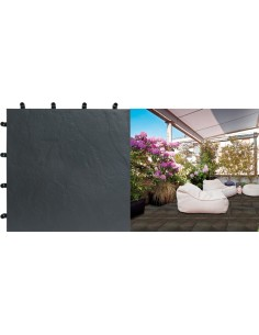 Loseta blacknite polipropileno 40x40 negro de nortene
