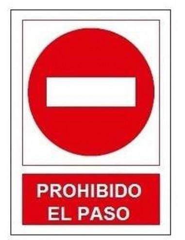 Señal prohibido paso sp868 de jg señalizacion