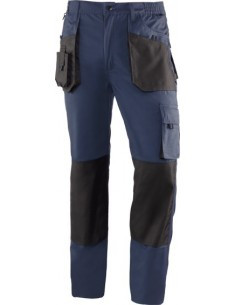 Pantalon top range 981 t-s azul marino/negro de juba