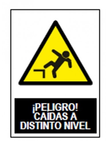 Señal advertencia peligro caida distinto nivel sa1004 de jg