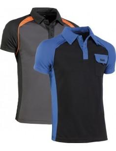 Polo top range cool way 964 t-s negro/naranja de juba