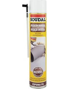 Espuma poliuretano 750ml manual 115797 de soudal caja de 12