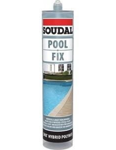 Masilla piscinas 290ml-132544 transparente de soudal caja de 6