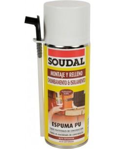 Espuma poliuretano 300ml manual 121651 de soudal caja de 6