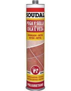 Masilla poliuretano 300ml-117567 marron de soudal caja de 12