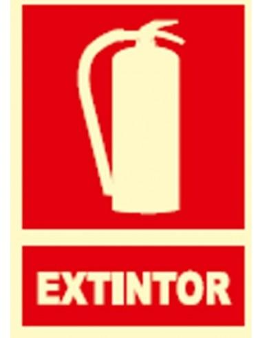 Señal fotoluminescente extintor ex001 de jg señalizacion
