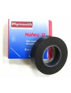 Cinta aislante pvc 5084-20mx19mm rojo de plymouth caja de 10