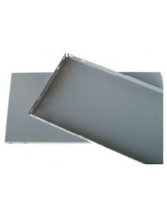 Bandeja 1000x400 pintada gris oscuro de simon caja de 10