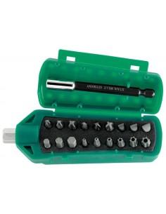Juego 18 puntas + accesorios magneticos 1201(3ph-3pz-3p-6t-3h)