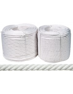 Rollo cuerda nylon mate 18mm-100mt blanco de rombull ronets