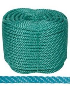 Rollo cuerda plastico 4/c 08mm-100mt verde de rombull ronets
