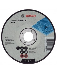 Disco abrasivo 230x3,0x22,23mm corte metal de bosch