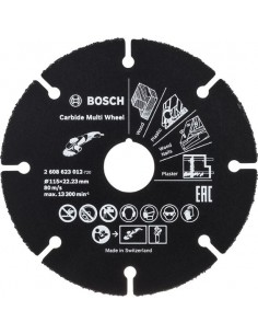 Disco multiwheel carburo 115x22,4mm de bosch construccion /