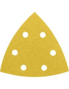 Lija triangular 6 perforaciones con velcro 93mm g080 bl50 de