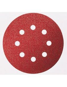 Lija disco 8 perforaciones con velcro 125x800 g040 bl5 de bosch