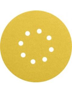 Lija disco 8 perforaciones con velcro 125mm g080 bl 50 de bosch