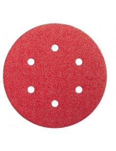 Lija disco 6 perforaciones con velcro 150x006 g080 bl5 de bosch