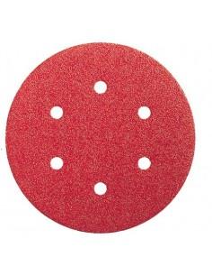 Lija disco 6 perforaciones con velcro 150x006 g040 bl5 de bosch