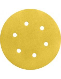 Lija disco 6 perforaciones con velcro 150mm g120 bl50 de bosch