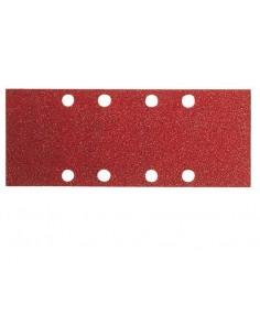 Lija rectangular 8 perforaciones con velcro 93x186 g080 bl10 de