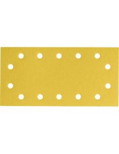 Lija rectangular 14 perforaciones con velcro 115x230 g080bl50