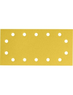 Lija rectangular 14 perforaciones con velcro 115x230 g060bl50